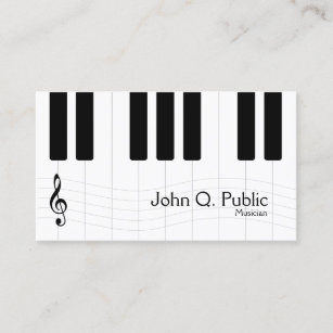 Piano Business Cards Zazzle