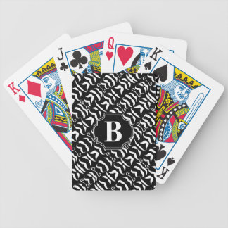 Black and White Mustache Mr. Hipster Vintage Retro Bicycle Playing Cards