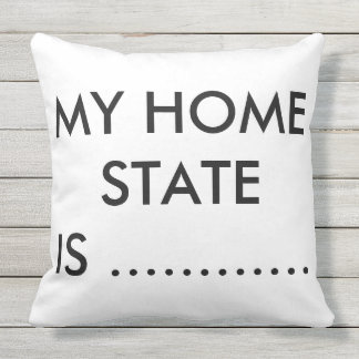 BLACK AND WHITE MY STATE PILLOW