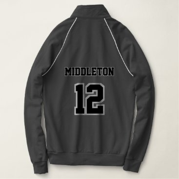 Professional Business Black and White Name and Number Jacket