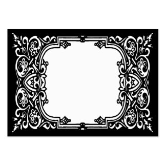 Black and White Name Place Cards Large Business Cards (Pack Of 100)