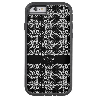 Black and White Named Damask Tough Xtreme iPhone 6 Case