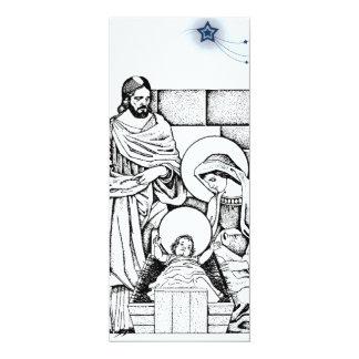 Black and White Nativity Invitation