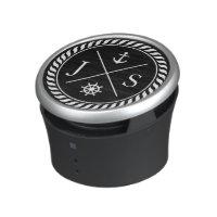 Black and White Nautical Anchor Monogram Bluetooth Speaker