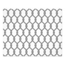 Black And White Nautical Rope Pattern Flyer