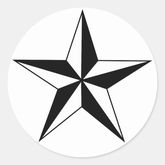 Black and White Nautical Star Stickers