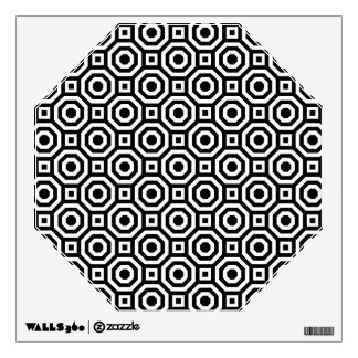 Black and White Nested Octagon Wall Decal