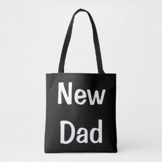 Black and White New Dad Diaper Bag