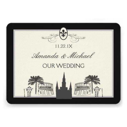 New Orleans Wedding Invitation 100 French Quarter Invitations Announcement Cards Zazzle