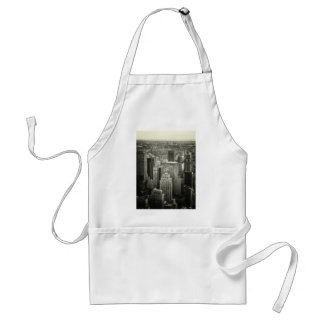 Black and White New York City Skyline Adult Apron
