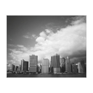 Black and White New York City Skyline Gallery Wrapped Canvas