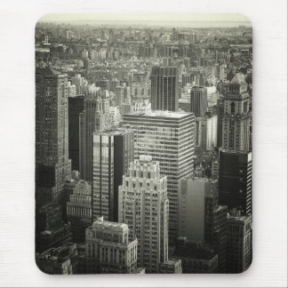 Black and White New York City Skyline Mouse Pad