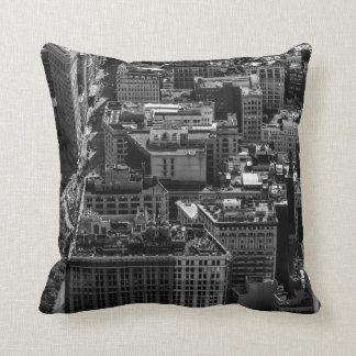 Black and White New York City Skyline Photo Throw Pillows