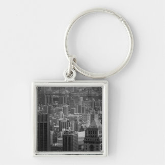 Black and White New York Cityscape Keychain