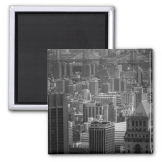 Black and White New York Cityscape Magnet