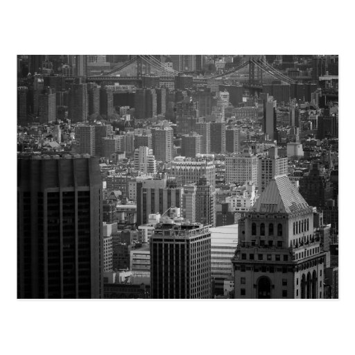 Black and White New York Cityscape Post Cards