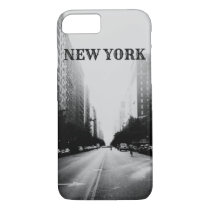 Black and White New York iPhone 8/7 Phone Case