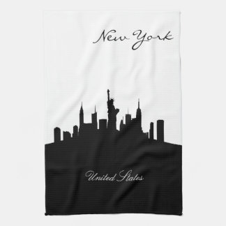 Black and White New York Skyline Kitchen Towel