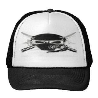 black and white ninja skull mesh hat