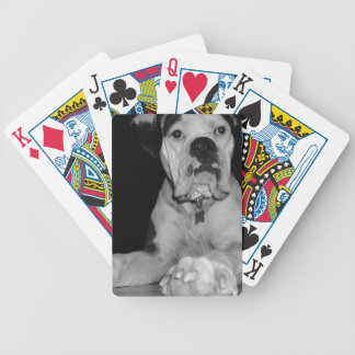 Black and White Noble Boxer Bicycle Playing Cards