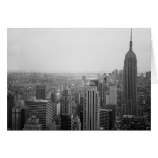 Black and White NYC Skyline Cityscape Card