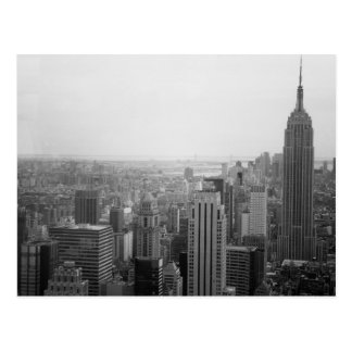 Black and White NYC Skyline Cityscape Postcard