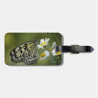 Black and White Nymph Butterfly Bag Tag