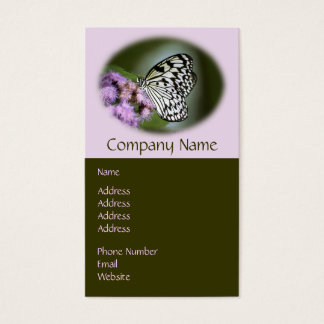 Black and White Nymph Butterfly Business Card
