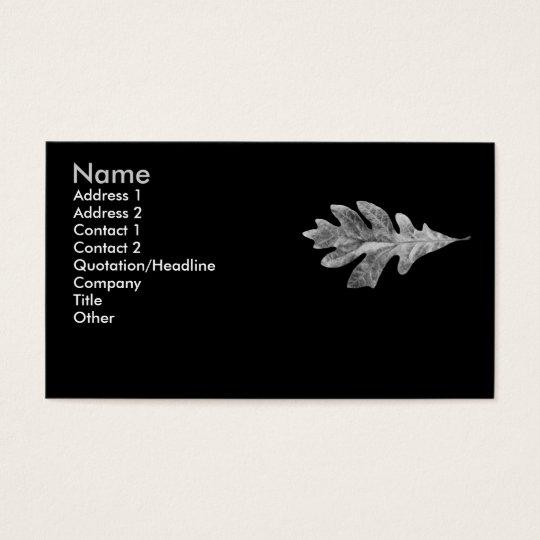 Black and white Oak Leaf Card