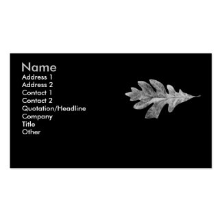 Black and white Oak Leaf Card Double-Sided Standard Business Cards (Pack Of 100)