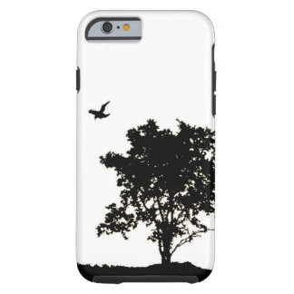 Black and White Oak tree with Crow iPhone 6 case