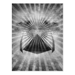Black and White Oasis Grunge Art Post Cards