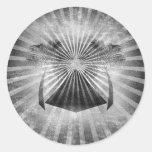 Black and White Oasis Grunge Art Sticker