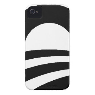 black and white obama logo iPhone 4 cases