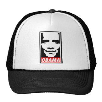 black and white obama trucker hat