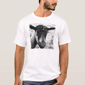 Black and white Oberhasli doe goat head view T-Shirt