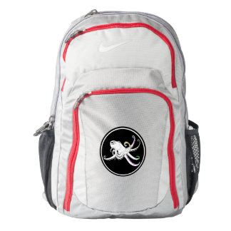 Black and White Octopus Cute Colorful Tentacles Backpack