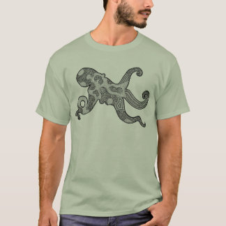 Black and White Octopus Shirt