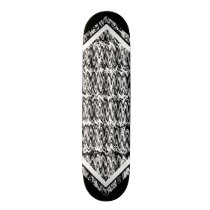 Black and White Oil Pattern Customizable Deck 1