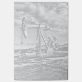 Black and White Oil Well Pumping Unit Post-Its Post-it® Notes