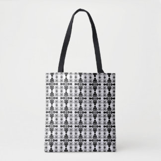 Black And White Old English Tote Bag