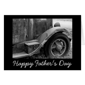 Black and White Old Truck Father's Day Card