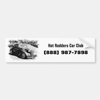 Black and White Oldie - Vintage Auto Bumper Stickers