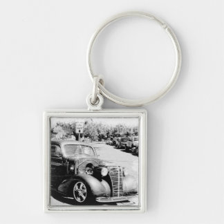 Black and White Oldie - Vintage Auto Keychain