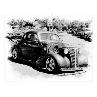 Black and White Oldie - Vintage Auto Postcard