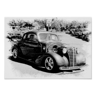 Black and White Oldie - Vintage Auto Posters