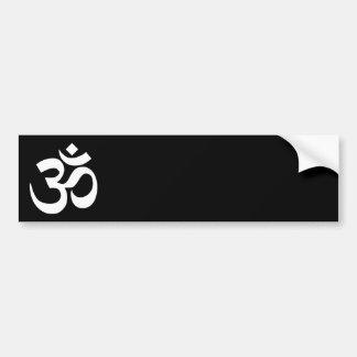 Black and White Om Symbol Car Bumper Sticker