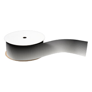 Black and White Ombre Grosgrain Ribbon