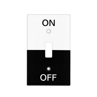 Black And White On Off Light Switch Cover