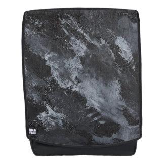 Black and White on Black Backpack